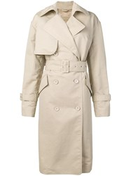 Christian Wijnants Chika Trench Coat Brown
