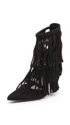Alice Olivia Jase Fringe Pumps Black