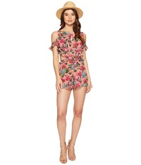 For Love And Lemons Churro Romper Pink Flamingo Women's Jumpsuit Rompers One Piece