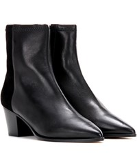 Isabel Marant Dabbs Leather And Suede Ankle Boots Black