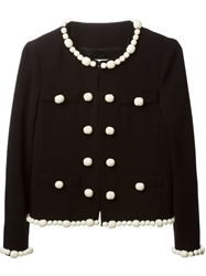 Moschino Cheap And Chic Bead Embellished Jacket Black