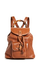 Wgaca What Goes Around Comes Around Gucci Brown Leather Bamboo Backpack