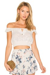 Somedays Lovin Sky Might Fall Crop Top White