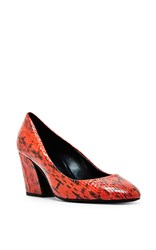 Pierre Hardy Red Calamity Snake Skin Pumps
