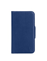 Polo Ralph Lauren Pebbled Blue Leather Samsung Phone Case Cobalt Blue