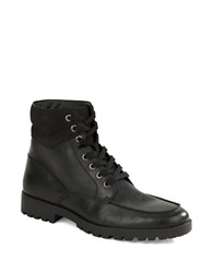 Unlisted By Kenneth Cole Upper Cut Faux Leather Boots Black