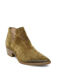 Steve Madden Austin Suede Booties Olive Green