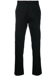 Versace Embroidered Logo Chinos Black