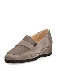 Amalfi By Rangoni Euforia Casual Suede Loafer Taupe