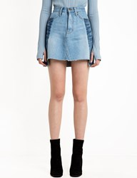 Pixie Market Two Tone Denim Mini Skirt