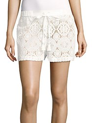 Michael Kors Crochet Drawstring Shorts White