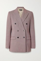 Theory Houndstooth Woven Blazer Claret