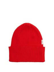 Paul Smith Cotton Beanie Hat Red