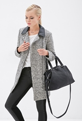 Forever 21 Slouchy Faux Leather Satchel