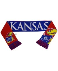 Forever Collectibles Kansas Jayhawks Reversible Split Logo Scarf Royalblue