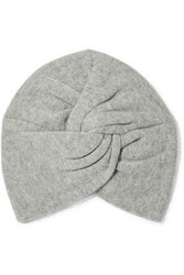 Madeleine Thompson Janice Twisted Wool And Cashmere Blend Beanie Light Gray