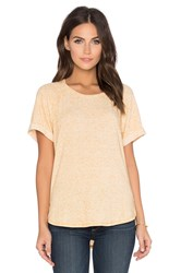 Stateside Linen Sweater Short Sleeve Crew Neck Tee Yellow
