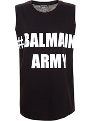 Balmain Balmain Army Tank Top Black