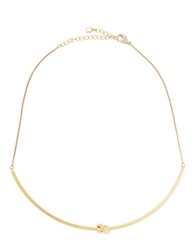 Bcbgmaxazria Metallic Single Knot Necklace Gold