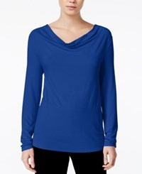 Bar Iii Cowl Neck Top Only At Macy's Lazulite