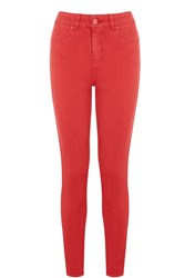 Oasis Red Skinny Lily Jeans Red