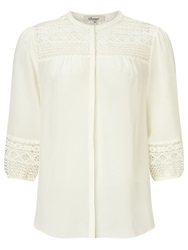 Alice By Temperley Somerset By Alice Temperley Lace Insert Silk Blouse Ivory Black