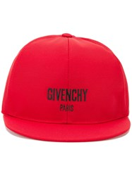 Givenchy Snap Back Cap Red