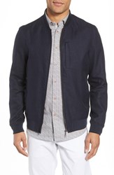 Ted Baker London Raney Trim Fit Linen And Cotton Jacket Navy