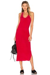 Cotton Citizen Mykonos Midi Dress Red