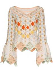 Peter Pilotto Geometric Knitted Top 60