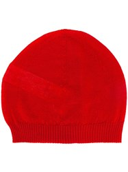 Rick Owens Knit Beanie Red