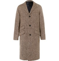J.Crew Magee Herringbone Wool Coat Brown
