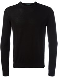 Zanone Crew Neck Jumper Black