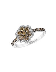 Le Vian Chocolatier Vanilla Diamond Chocolate Diamond And 14K Vanilla Gold Flower Ring Brown