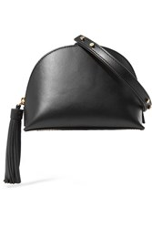 Loeffler Randall Tasseled Leather Shoulder Bag Black