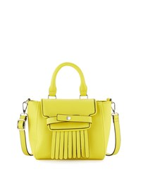 Neiman Marcus Lillian Fringe Crossbody Bag Yellow