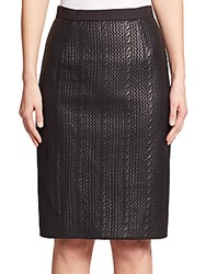 Raoul Knit Cable Pattern Skirt Black