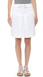 Clu Too Mix Media Skirt White