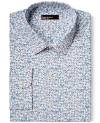 Bar Iii Slim Fit Blue Pink Dandy Floral Print Dress Shirt Only At Macy's