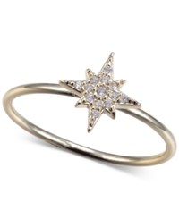 Unwritten Cubic Zirconia Star Ring In Gold Tone Sterling Silver