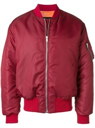 Calvin Klein 205W39nyc Oversized Bomber Jacket Red