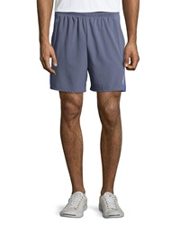 Asics 2 N 1 Contrast Stripe Shorts Slate New Blue