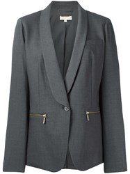 Michael Michael Kors Zipped Pocket Blazer Grey