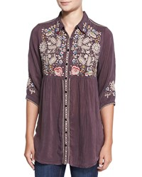 Johnny Was Britnee Embroidered Tunic Women's Raisin