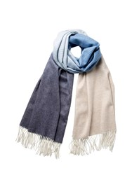 Johnstons Of Elgin Cashmere Blue Ombre Stole