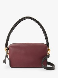 And Or Puebla Leather Cross Body Bag Burgundy