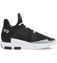 Adidas Y3 Noci Mid Top Neoprene Trainers Core Black Crystal