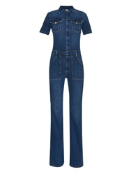 Frame Denim Le Mechanic Flared Jumpsuit