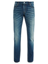 Balenciaga Slim Fit Faded Wash Jeans Blue
