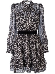 Marc Jacobs Leopard Print Shirt Dress Black